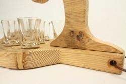 schnapsglastr ger schnapsbrettl schnapsbrett aus treibholz. Black Bedroom Furniture Sets. Home Design Ideas