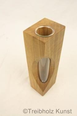 tischvase kleine vase aus nussbaum nussbaum holz tischdeko vase. Black Bedroom Furniture Sets. Home Design Ideas