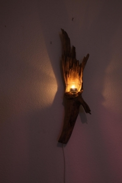 treibholz wandlampe holz wandleuchte schwemmholz. Black Bedroom Furniture Sets. Home Design Ideas