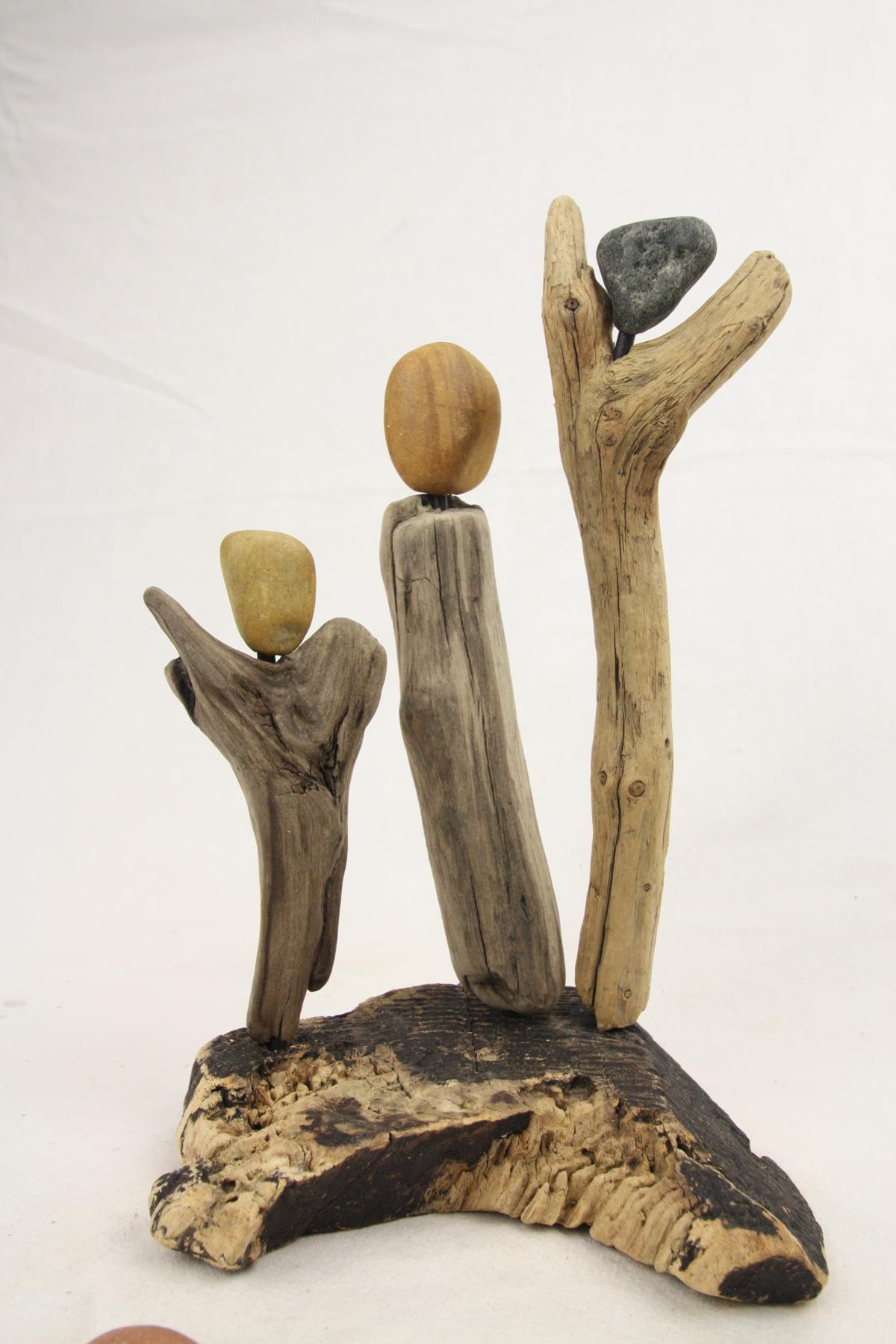 skulptur treibholz kunst der mensch kunst. Black Bedroom Furniture Sets. Home Design Ideas