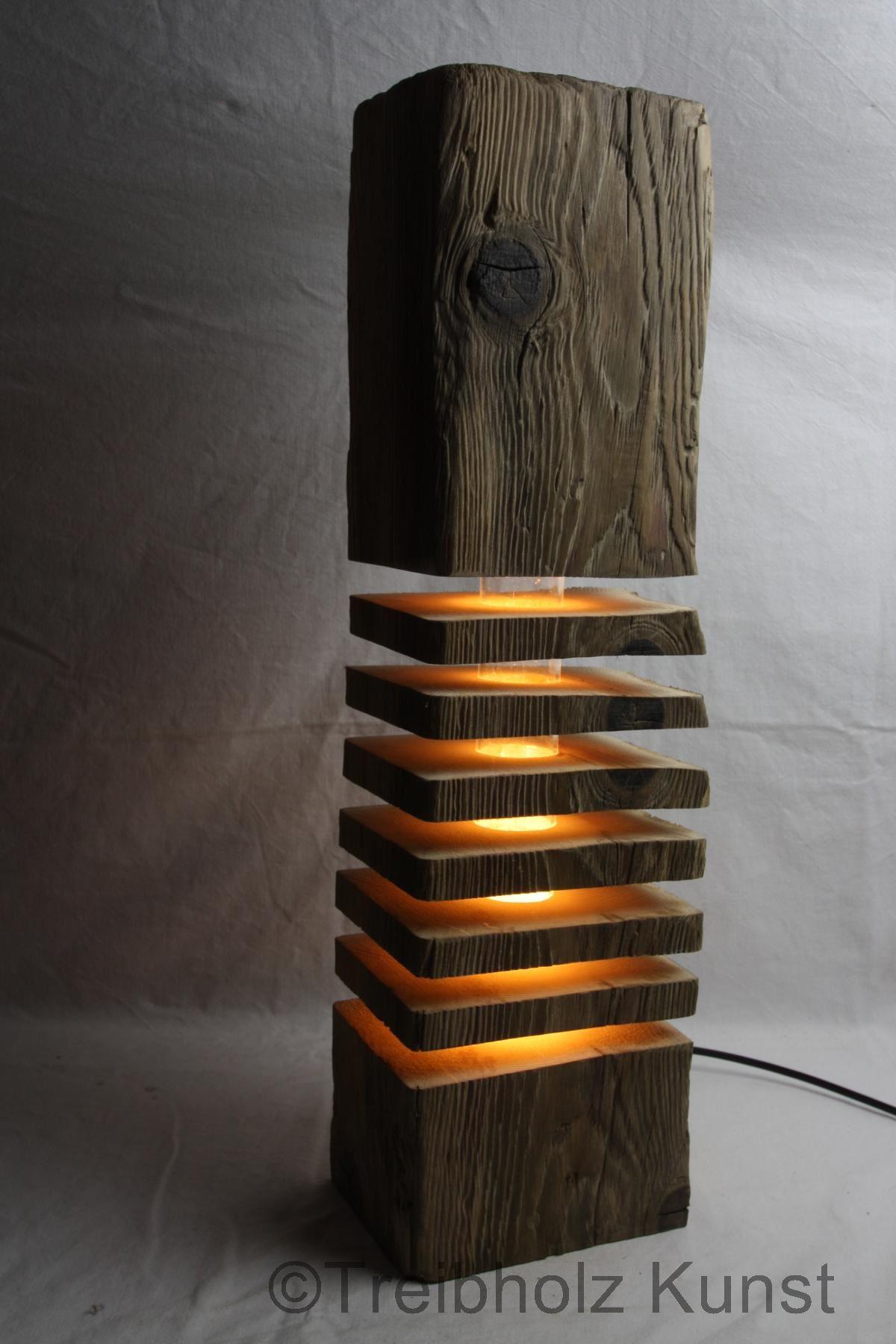 Treibholz altholz designlampe for Designer lampen wohnzimmer