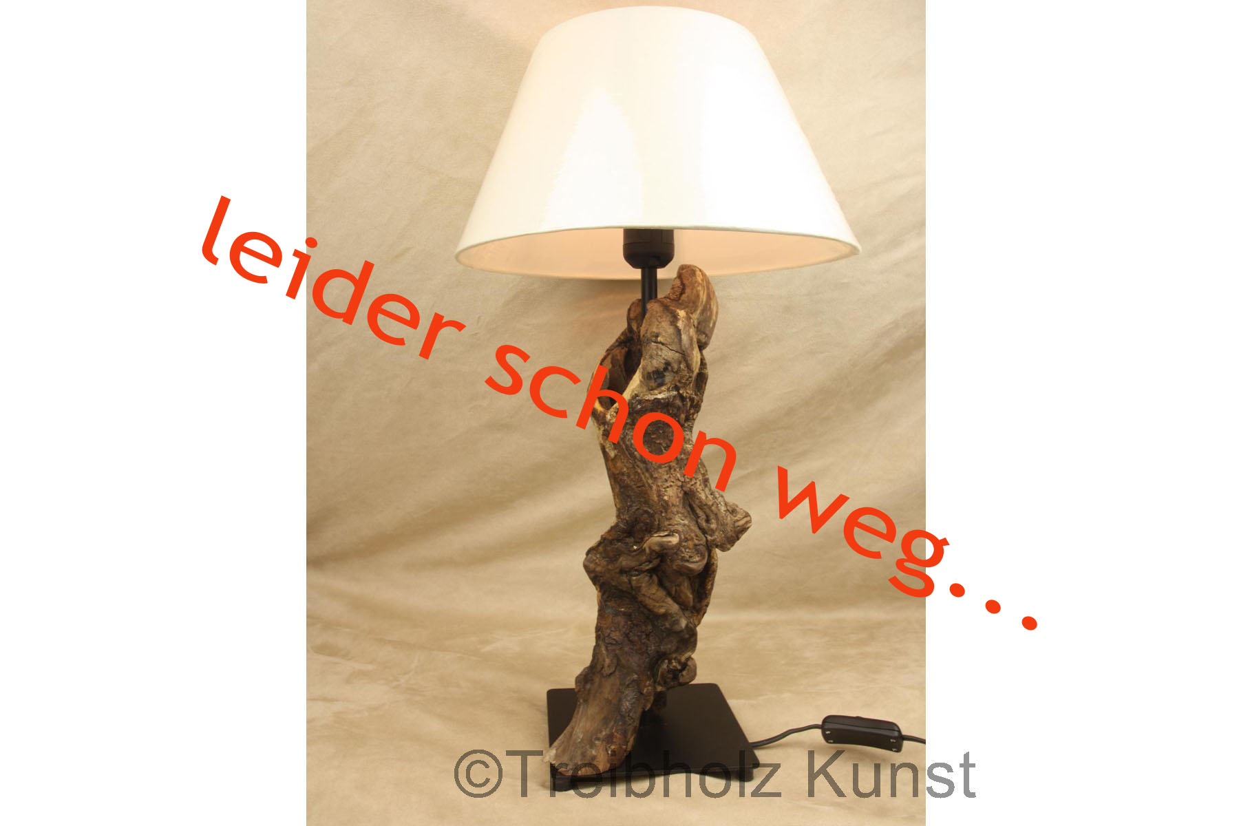 Treibholz Lampe Mit Schirm Wwwtreibholz Bodenseede Tischlampe