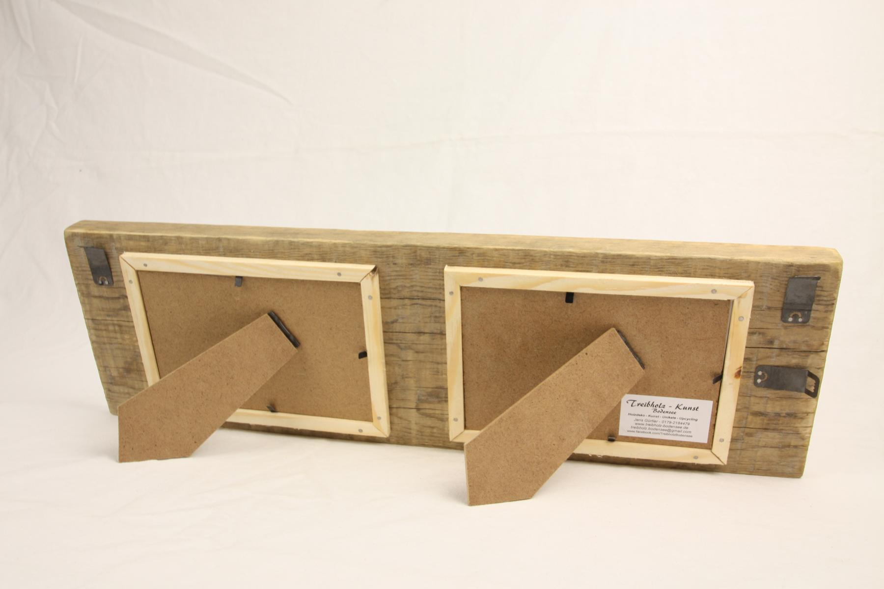 doppelbilderrahmen treibholz schwemmholz rahmen f r zwei bilder. Black Bedroom Furniture Sets. Home Design Ideas