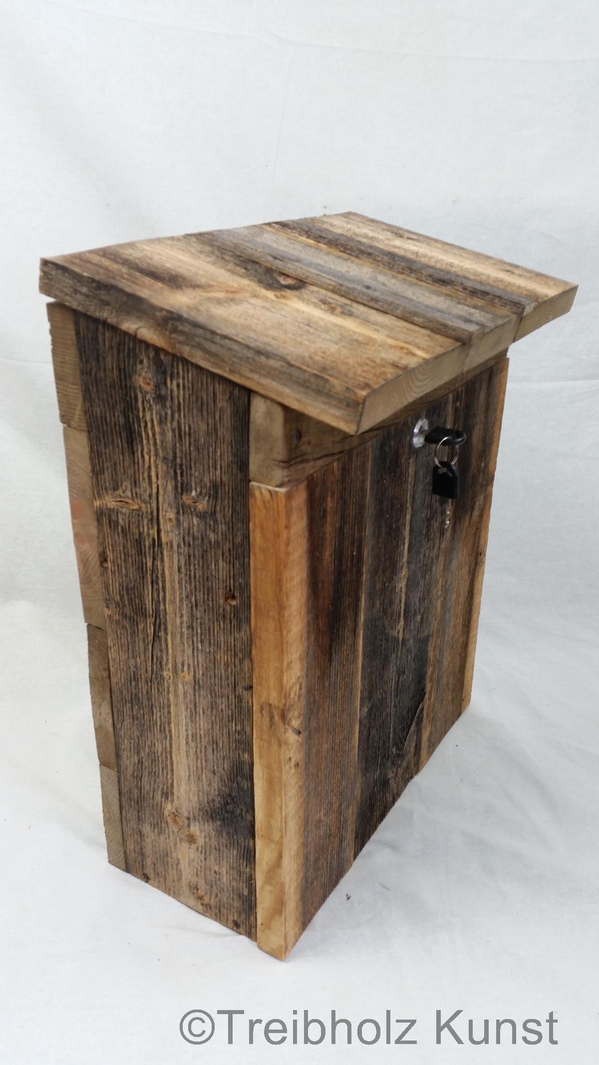 Briefkasten Aus Holz Rustikal Wwwtreibholz Bodenseede Briefbox