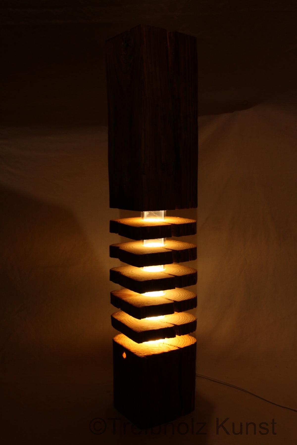 Treibholz altholz designlampe for Led holzlampe