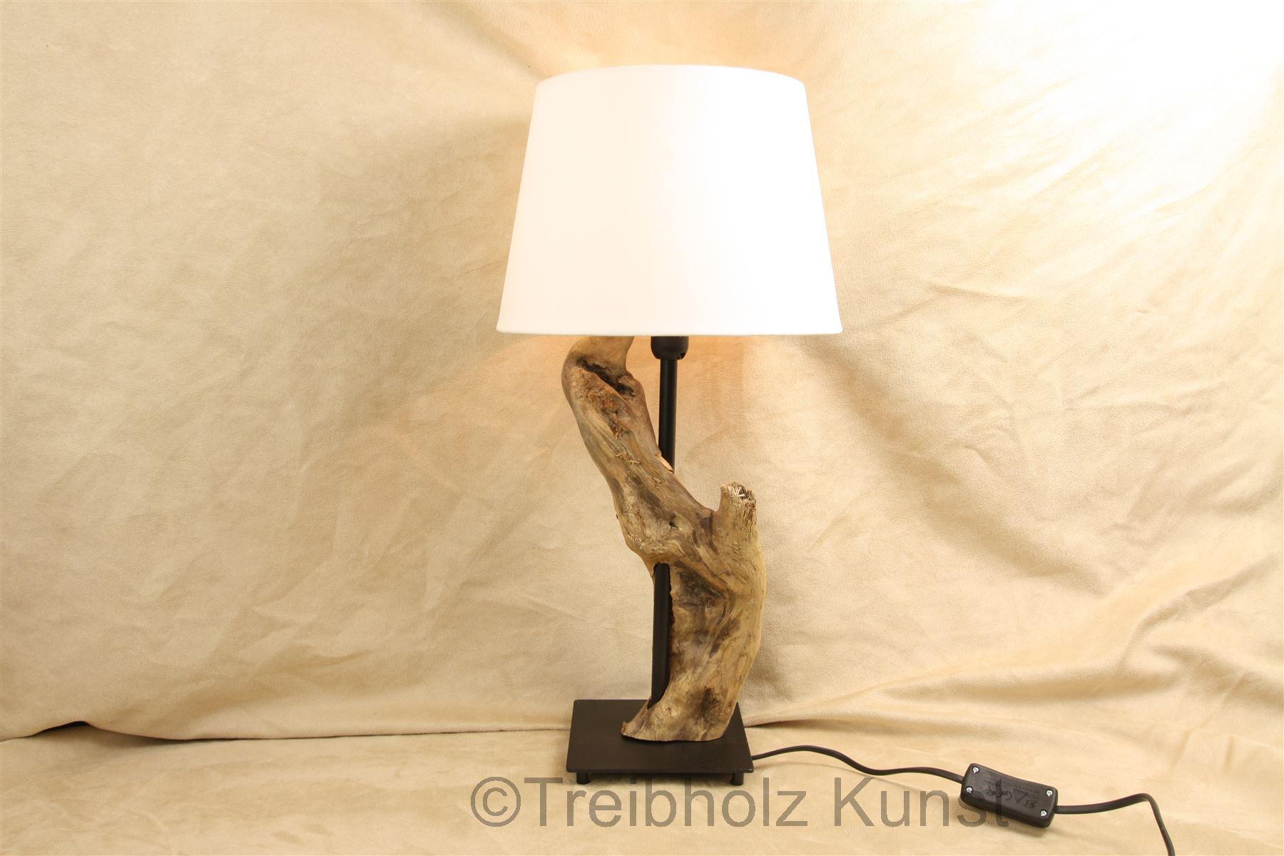 Treibholz nachttischlampe www.treibholz bodensee.de tischlampe