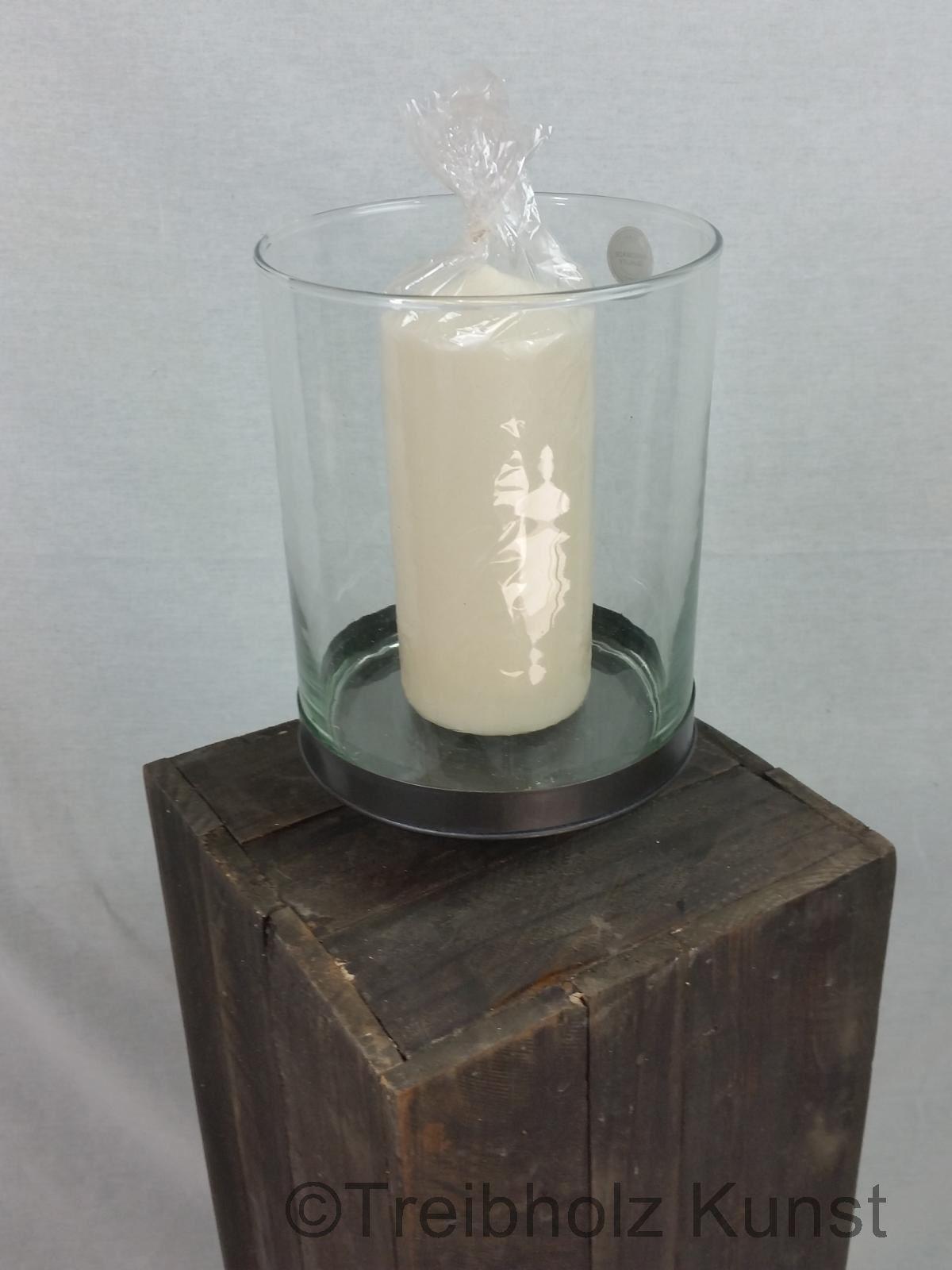 windlicht mit glas gro windlichter teelichter. Black Bedroom Furniture Sets. Home Design Ideas