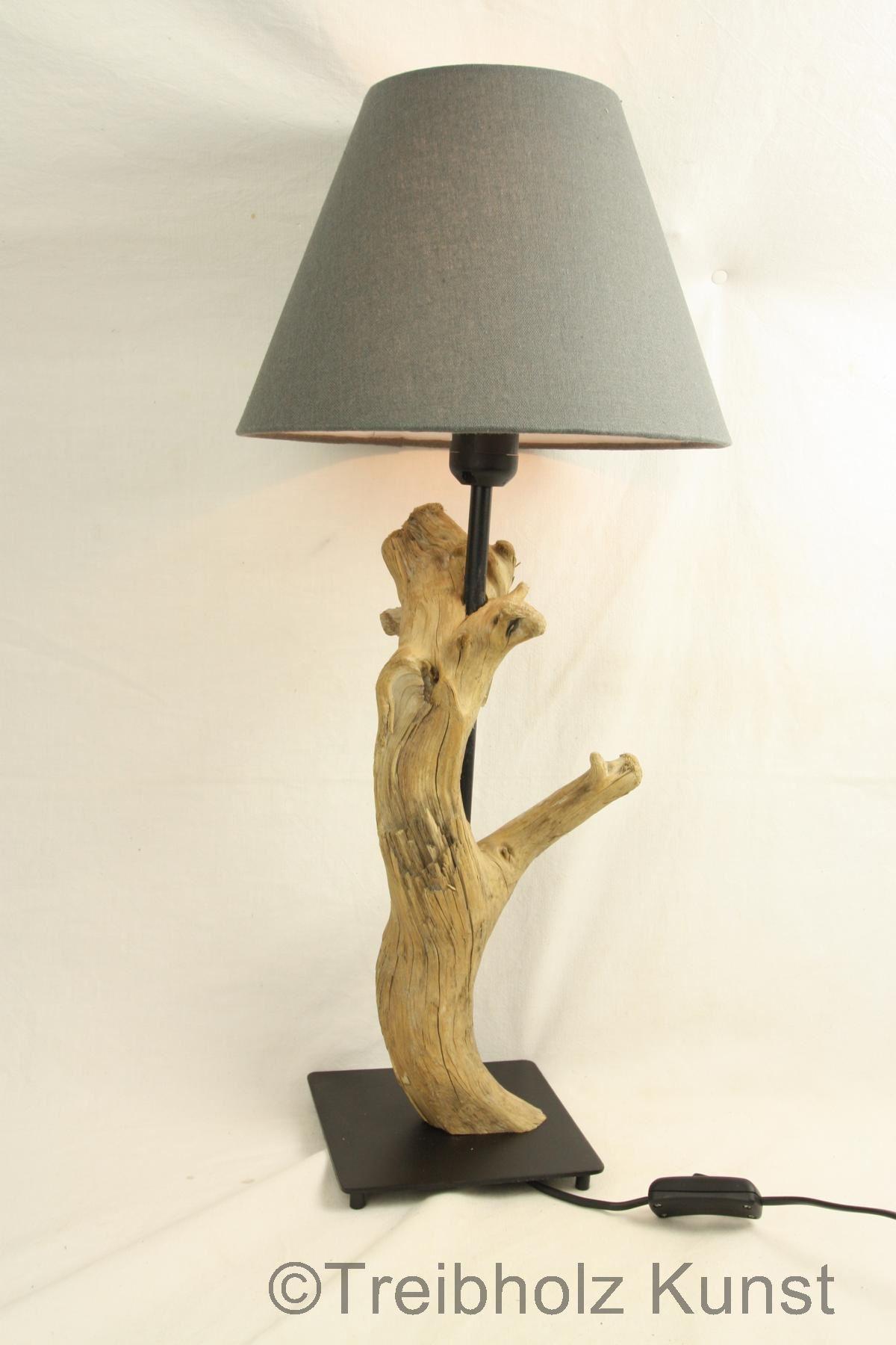 Treibholz Lampe Mit Schirm Www Treibholz Bodensee De Tischlampe
