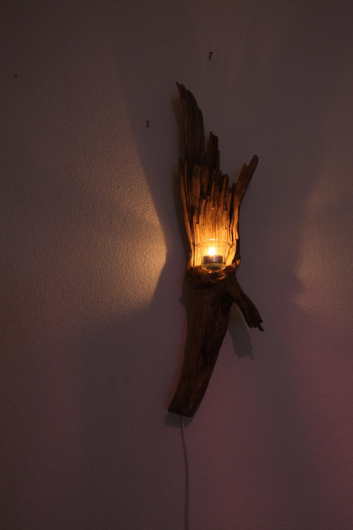 95_add_400_Wand-Leuchte-Skulptur-67cm-und-Teelicht Spannende Wandlampe Kinderzimmer Selber Basteln Dekorationen